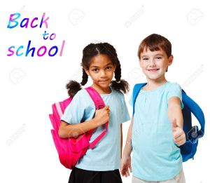 14505959-Two-school-kids-in-blue-t-shirts-with-backpacks-Stock-Photo-school-children-back